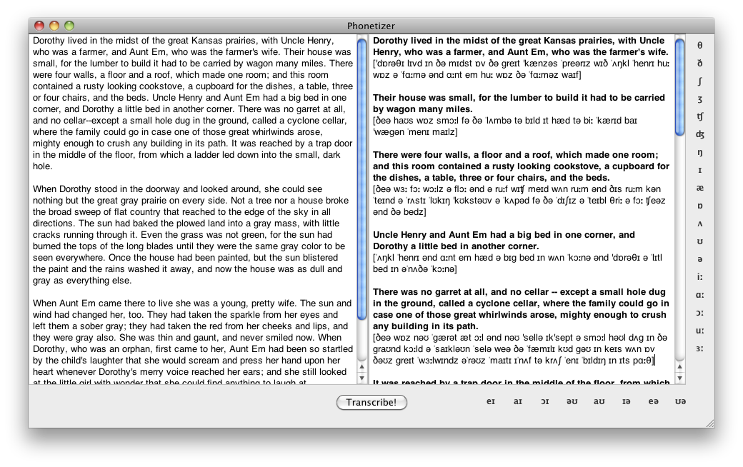 English phonetic transcription software Phonetizer for ...